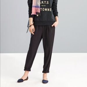 Madewell Delancey Slouch Trousers in Red